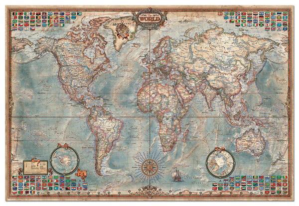 puzzle karta sveta EDUCA PUZZLE Sestavljanke 4000